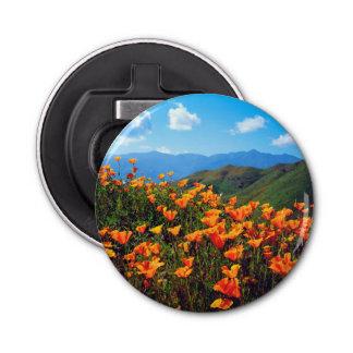California poppies covering a hillside bottle opener