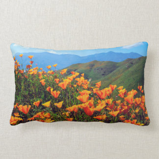 California poppies covering a hillside lumbar cushion