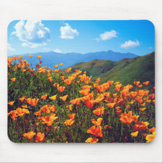 California poppies covering a hillside mouse pad
