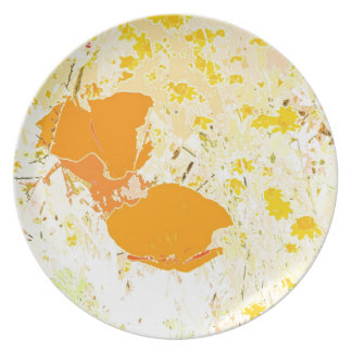 California Poppies Dinner Plate