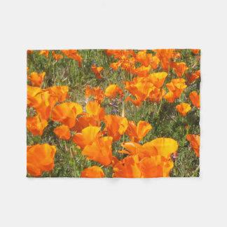 California Poppies Fleece Blanket