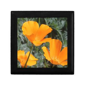 California Poppies Trinket Box