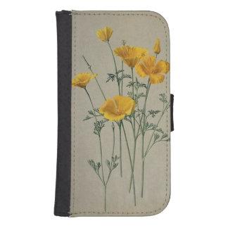 California Poppies Samsung Galaxy S4 Wallet Case