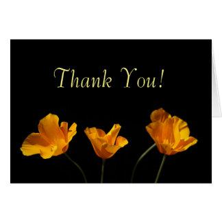 California Poppies Thank You Card