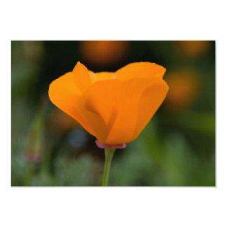 California Poppy 13 Cm X 18 Cm Invitation Card