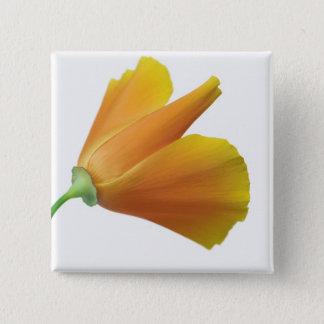California poppy 15 cm square badge