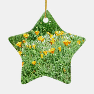 California Poppy #3 Christmas Ornament