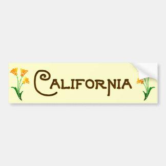 California Poppy Art Deco Bumper Sticker