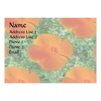 California Poppy Pack Of Chubby Business Cards