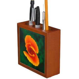 California Poppy Desk Organiser