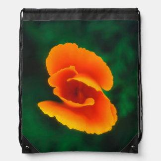 California Poppy Drawstring Bag