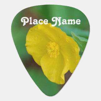 California Poppy Guitar Pick