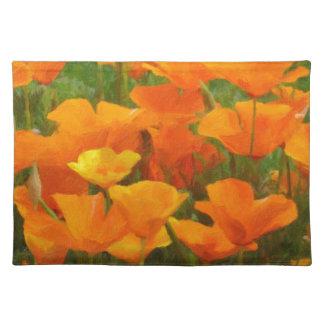 california poppy impasto placemat