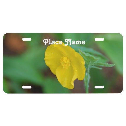 California Poppy License Plate