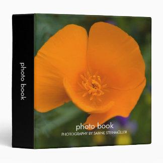 California Poppy Photo Book Binder