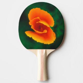 California Poppy Ping Pong Paddle