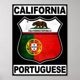 California Portuguese American Poster