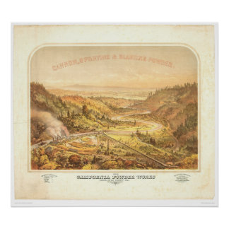 California Powder Works in Santa Cruz (0195A) Poster