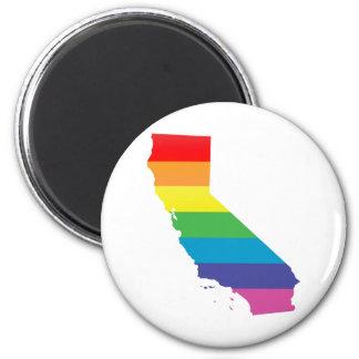 california pride. 6 cm round magnet