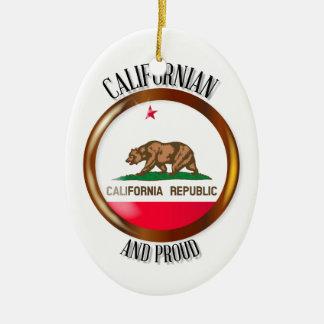California Proud Flag Button Ceramic Oval Decoration
