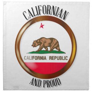 California Proud Flag Button Napkin