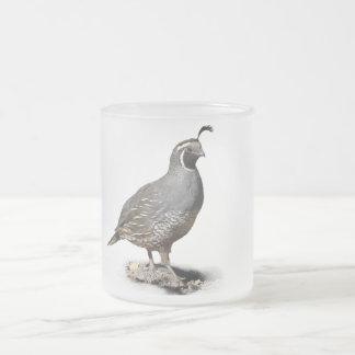 CALIFORNIA QUAIL 2 FROSTED GLASS MUG