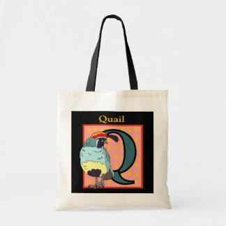 California Quail Bird Tote Bags