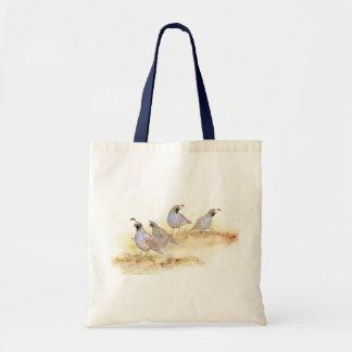 California Quail, Birds, Nature, Wildlife, Budget Tote Bag