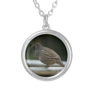 California Quail Personalized Necklace