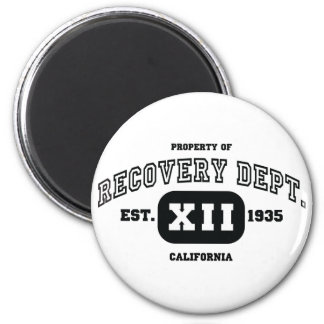 CALIFORNIA Recovery 6 Cm Round Magnet
