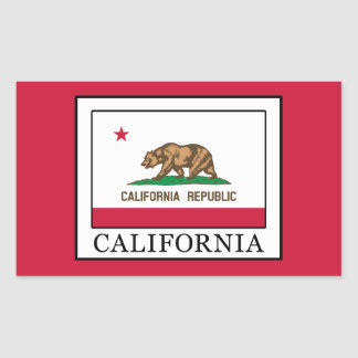 California Rectangular Sticker