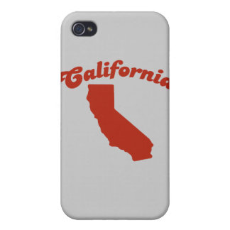 CALIFORNIA Red State Case For iPhone 4