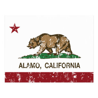 California Republic Alamo Flag Postcard