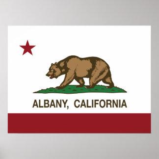 California Republic Albany Flag Print