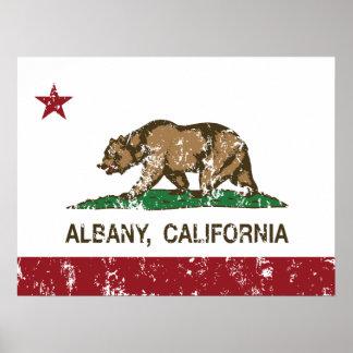 California Republic Albany Flag Poster