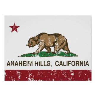 California Republic Anaheim Hills Flag Print