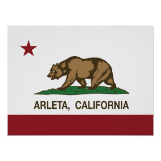 California REpublic Arleta Flag Print