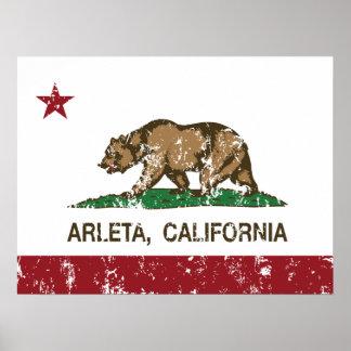 California REpublic Arleta Flag Posters