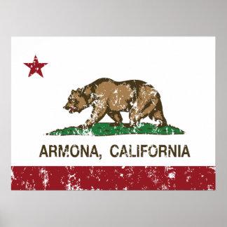 California Republic Armona Flag Print