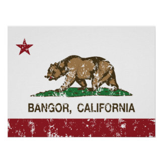 California Republic Bangor Flag Posters