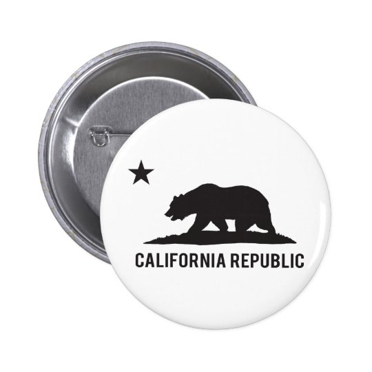 California Republic - Basic 6 Cm Round Badge