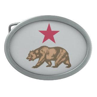 California Republic Bear and Star Belt Buckle