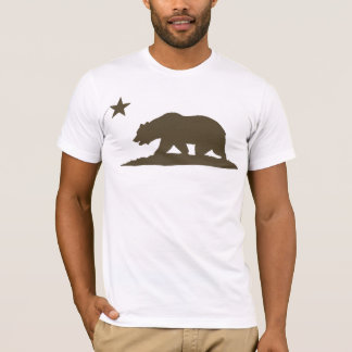 California Republic Bear - Brown T-Shirt