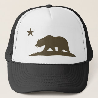 California Republic Bear - Brown Trucker Hat