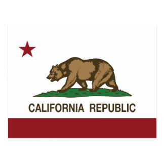 California Republic Bear Flag Postcard