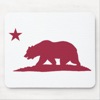 California Republic Bear - Red Mouse Pads