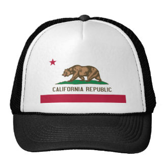 California Republic Bear State Flag Cap