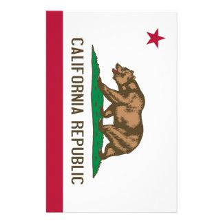 California Republic Bear State Flag Customised Stationery