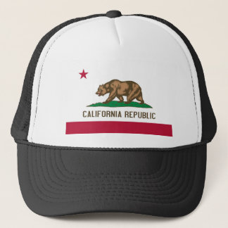 California Republic Bear State Flag Trucker Hat