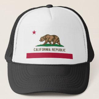 California Republic Bear State Flag Trucker Hat